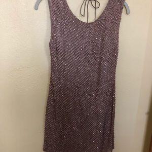 Champaign color Sequin cocktail dress